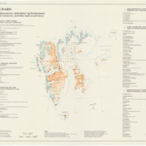 Historisk oversiktskart: Svalbard (mineralressurser, aktiviteter)