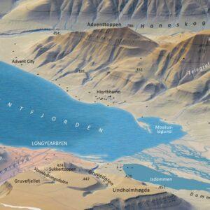 3D-kart Longyearbyen og omegn